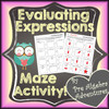 Evaluating Expressions Maze Activity