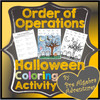 Halloween Order of Operations Coloring Activity
