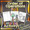 Fall Order of Operations Coloring Activity