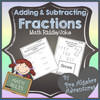 Fractions Adding & Subtracting Riddle Activity