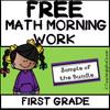 1st Grade Morning Work- Math - FREE