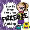 First Grade Sight Words Worksheets - Back to School Themed FREEBIE