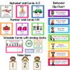Bilingual Polka Dot Calendar Set and Classroom Decorations