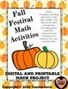 Fall Festival Math Activities Choice Board