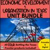Economic Development & Urbanization in Texas ***BUNDLE***