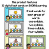 BOOM Cards Counting Syllables in Spanish-Contando sílabas (Distance Learning)