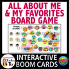 All About Me and My Favorites Board Game Boom Cards