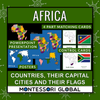 Africa: Countries, Flags & Capital Cities: PowerPoint + Montessori 3 Part Cards
