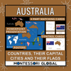 Australia - Continent, Countries, their Flags and their Capital Cities