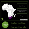 African Countries: Boom Cards™, 4 Part Cards, Control Cards, PowerPoint, Video