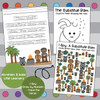 Abraham and Isaac trace the verse worksheet, I Spy worksheet, and draw by number, preschool Bible worksheets