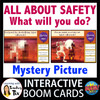 All About Safety Protocols Mystery Picture Halloween Theme Boom Cards