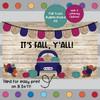 Navy Blue Truck - Fall Themed Bulletin Board Kit