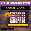 Visual Discrimination: TRICK OR TREAT CANDY GAME - BOOM CARDS Distance Learning