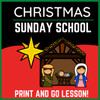 Christmas Sunday School Lesson   Nativity Lesson and Activities