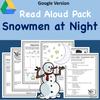 Digital version:  Read-A-Loud Tasks: Snowmen at Night
