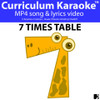 '7 TIMES TABLE' ~ Curriculum KARAOKE™ SONG VIDEO