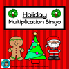Holiday Multiplication Bingo - Digital - Moveable Chips