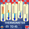 Thermometer Scales of Temperature Celsius Degrees ClipArt