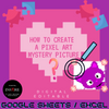 How to create a Pixel Art Mystery Picture (editable) showing up in Google Sheets