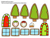 Addition Facts Game - Christmas and Holiday Fun - Build a Gingerbread House