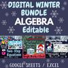 DIGITAL Math Winter January BUNDLE: Two-Step Equations + Algebraic Expressions
