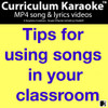 FREE! ~ Tips For Using Songs In Your Classroom