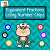 Fractions - Simplifying with Kelly's Number Chips - Moveable pieces