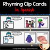 Rhyming Clip Cards- Tarjetas de rimas