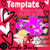 DIGITAL Game Valentine's Day Activity - Template EDITABLE in Google Sheets