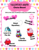 Valentine's Math Choice Board