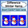 Find the Difference: Winter Theme Boom Cards™