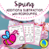 Spring Addition and Subtraction with Regrouping (Jokes & Riddles)