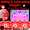 Adding and Subtracting Integers Valentine's Day Math Digital Escape Room Game
