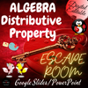 Valentines Day DIGITAL Math Escape Room - Simplifying Algebraic Expressions - Distributive Property & Combining Like Terms. ALGEBRA EDITABLE