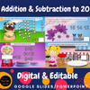 Addition & Subtraction to 20 Interactive Math Google Slides DIGITAL & EDITABLE