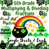 5th Gr Multiplying and Dividing Fractions - St. Patrick's Day Pixel Art Mystery