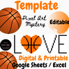 March Madness Basketbal Pixel Art Mystery Picture   Template PRINTABLE & DIGITAL