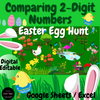 DIGITAL Math Easter Egg Scavenger Hunt | Pixel Art | Comparing 2 Digit Numbers