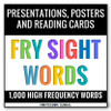 The Fry Sight Words divided into 40 lists of 25 words each. The product includes 40 Digital Flashcard PowerPoint Presentations, 40 printable ledger size posters and 1,000 printable reading cards. Ideal for remote, hybrid and in person teaching.