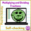Earth Day Multiplying and Dividing Fractions Pixel Art Activity Google Sheets