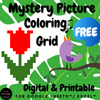 FREE Coding Mother's Day Mystery Picture Coloring Grid Page Printable & Digital