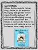 Oliver Button Is A Sissy by Tomie dePaola Reading Activities
