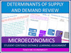Determinants of Supply and Demand Review, Bundle Economics Microeconomics