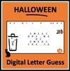 Halloween Digital Letter Guess