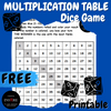 FREE Multiplication Table Math Dice Game for Fact to 10 Fluency - Printable