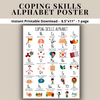 Coping Skills Alphabet - ABC Calm Down Strategies - A to Z Emotional Regulation SEL