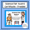 Science Fair Award Certificates Freebie!
