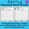 Writing templates included for lesson extension. Students write sentences or a story using the compound words.