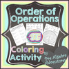 Order of Operations PI Coloring Activity